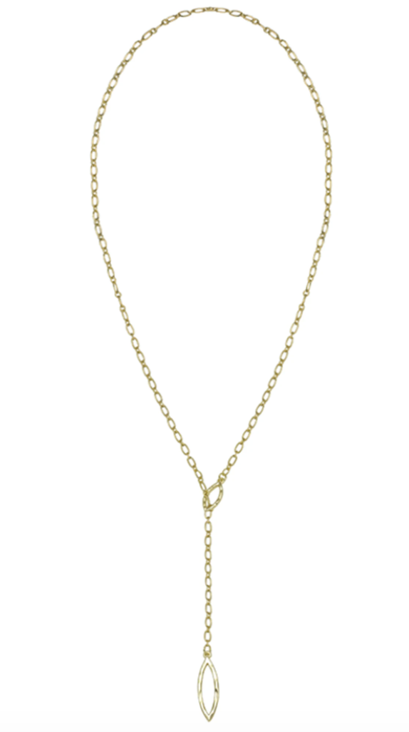 So Lovely Lariat Necklace - Gold