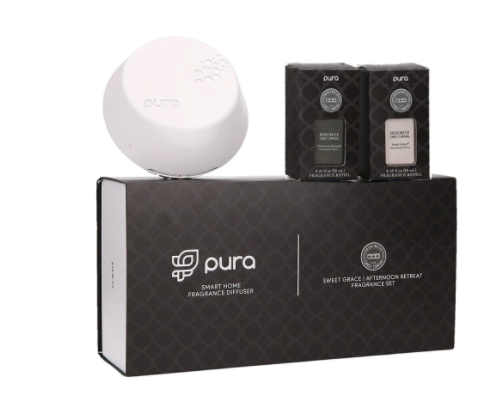 Pura+Bridgewater Smart Home Diffuser Set-Sweet Grace & Afternoon Retreat