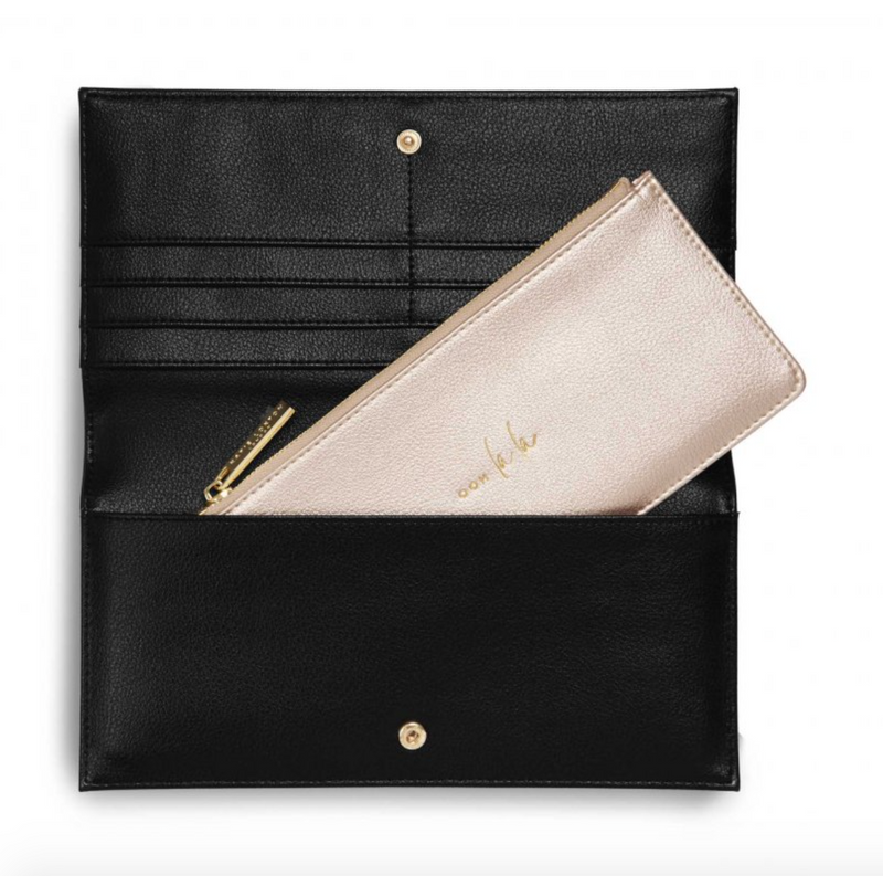 Katie Loxton - OOH LA LA black clutch/wallet