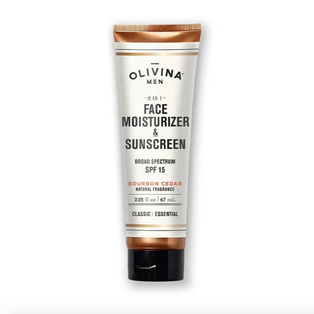 Olivina - Bourbon Cedar 2-in-1 Face Moisturizer & Sunscreen