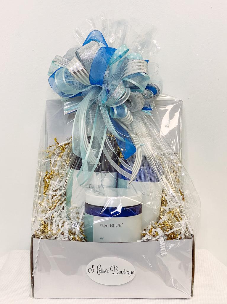 Wrapped capri BLUE Gift Set - Large