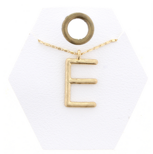 "16"" Gold Chain Initial Necklace"
