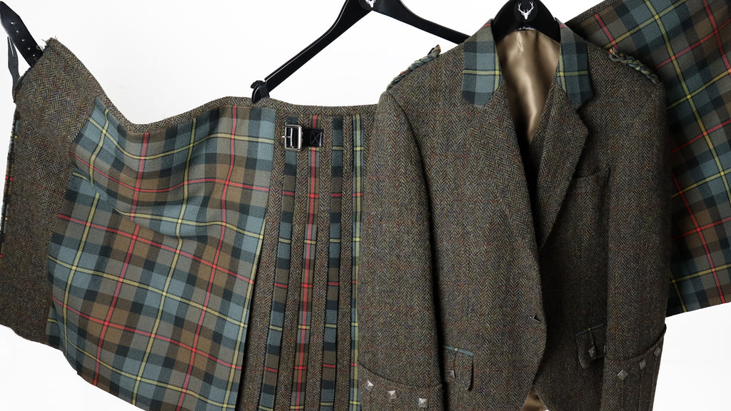 Harris Tweed and Tartan Kilt Outfit