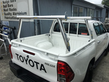 Toyota SR Hilux Tradesman Rack Set (MY16) (Front & rear rack). HD channel system