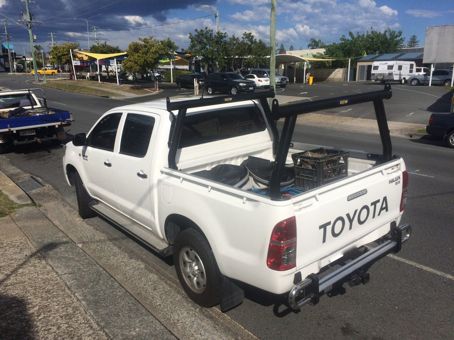Toyota SR Hilux Tradesman Rack Set (2005-2015). (Front & rear rack). HD channel system