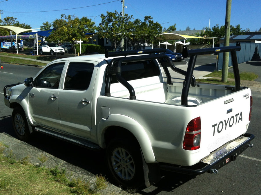 Toyota SR5 Hilux Tradesman Rack & Sportsbar Extension (2005-Present). HD channel system