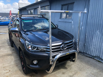 Toyota Hilux (07/2015 - On) 76mm Nudge Bar with removable H-Frame (GCB)