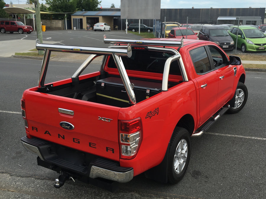 Ford PX Ranger (MkII & MkIII) Tradesman Rack & Sportsbar Extension. HD channel system