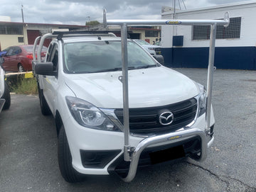 Mazda BT50 (10/2011 - ON) 76MM NUDGE BAR WITH REMOVABLE H-FRAME (GCB)