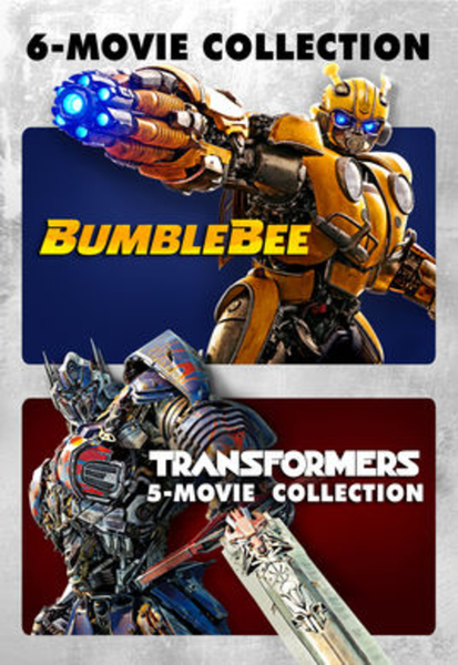 Transformers 5-Movie Collection & Bumblebee iTunes 4K Codes (6 Movies, 6 Codes)