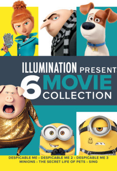 Illumination 6-Movie Collection Vudu HDX or iTunes HD or Google Play HD or Movies Anywhere HD Code (HD iTunes & HD Google Play Transfer From Movies Anywhere) (6 Movies, 1 Code)