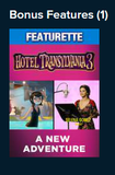 Hotel Transylvania 3 Vudu SD or iTunes SD or Google Play SD or Movies Anywhere SD Code (SD iTunes & SD Google Play Transfer From Movies Anywhere) (THIS IS A STANDARD DEFINITION [SD] CODE)