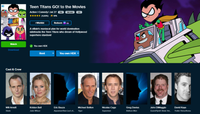 Teen Titans Go! To The Movies Vudu HDX or iTunes HD or Google Play HD or Movies Anywhere HD Code (HD iTunes & HD Google Play Transfer From Movies Anywhere)