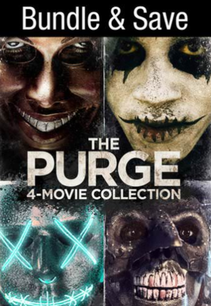 The Purge Collection Vudu HDX or iTunes HD or Google Play HD or Movies Anywhere HD Code (HD iTunes & HD Google Play Transfers From Movies Anywhere) (1 Code, 4 Movies)
