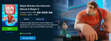 Ralph Breaks The Internet: Wreck-It Ralph 2 Vudu HDX or iTunes HD or Google Play HD or Movies Anywhere HD Code (150 Point Full Code)