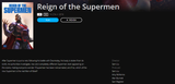 Reign Of The Supermen Vudu HDX or iTunes HD or Google Play HD or Movies Anywhere HD Code (HD iTunes & HD Google Play Transfer From Movies Anywhere)