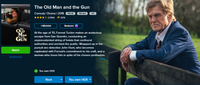The Old Man & The Gun HD Digital Code (Redeems in Movies Anywhere; HDX Vudu & HD iTunes & HD Google Play Transfer From Movies Anywhere)