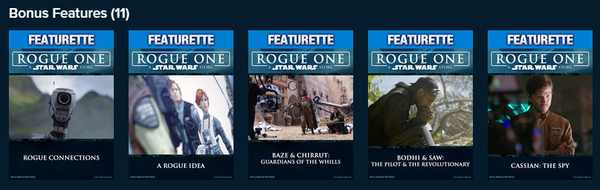 Rogue One: A Star Wars Story Vudu HDX or iTunes HD or Google