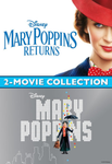 Mary Poppins 2-Movie Collection HD Digital Codes (Redeems in Movies Anywhere; HDX Vudu & HD iTunes & HD Google Play Transfer From Movies Anywhere) (Full Codes, No Disney Insiders Points) (2 Movies, 2 Codes)