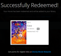 Coco Vudu HDX or iTunes HD or Google Play HD or Movies Anywhere HD Code (150 Point Full Code)