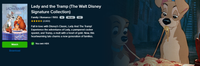 Lady and the Tramp Walt Disney Signature Collection HD Digital Code (Redeems in Movies Anywhere; HDX Vudu & HD iTunes & HD Google Play Transfer From Movies Anywhere) (Full Code, No Disney Insiders Points)