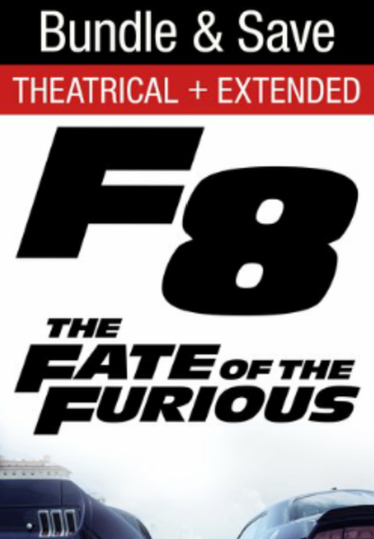 Fate of the Furious iTunes 4K Code (Redeems in iTunes; UHD Vudu & 4K Google Play of the Theatrical Version Transfer Across Movies Anywhere - SEE ITEM DESCRIPTION) (Theatrical & Extended Versions; Extended Version Included in iTunes Extras)