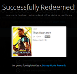 Thor: Ragnarok HD Digital Code (Redeems in Movies Anywhere; HDX Vudu & HD iTunes & HD Google Play Transfer From Movies Anywhere) (Full Code, No Disney Insiders Points)