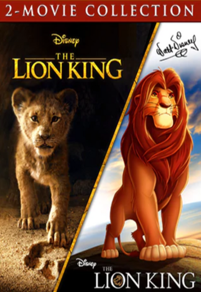 The Lion King Animated & Live Action 2-Movie Collection 4K Digital Codes (Redeems in Movies Anywhere; UHD Vudu & 4K Google Play & HD iTunes Transfers From Movies Anywhere) (NO 4K ITUNES) (Full Code, No Disney Insiders Points)