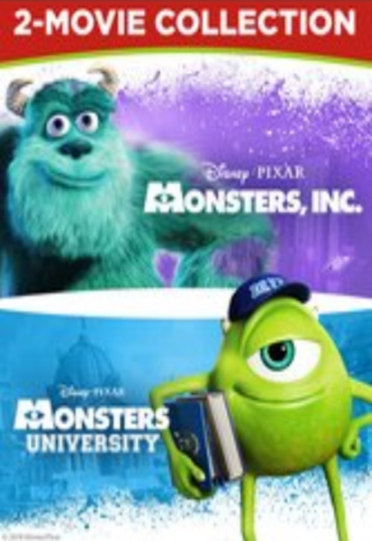 Monsters, Inc. & Monsters University 2-Movie Collection HD Digital Codes (Redeems in Movies Anywhere; HDX Vudu & HD iTunes & HD Google Play Transfer From Movies Anywhere) (Full Codes, No Disney Insiders Points) (2 Movies, 2 Codes)