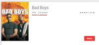Bad Boys Trilogy 3-Movie Collection HD Digital Codes (Redeems in Movies Anywhere; HDX Vudu & HD iTunes & HD Google Play Transfer From Movies Anywhere) (3 Movies, 3 Codes)