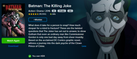 Batman: The Killing Joke Vudu HDX or iTunes HD or Google Play HD or Movies Anywhere HD Code (HD iTunes & HD Google Play Transfer From Movies Anywhere)