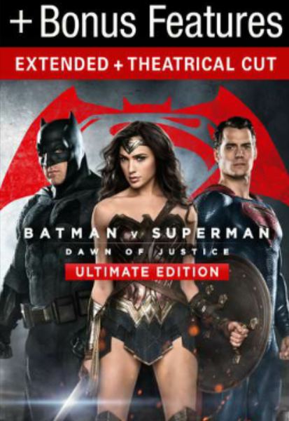 Batman v Superman: Dawn of Justice - The Ultimate Edition HD Digital Code (Theatrical & Extended Cuts) (HD iTunes & HD Google Play Transfer From Movies Anywhere)