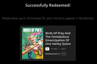 Birds of Prey and the Fantabulous Emancipation of One Harley Quinn HD Digital Code (Redeems in Movies Anywhere; HDX Vudu & HD iTunes & HD Google Play Transfer From Movies Anywhere)