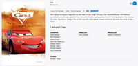 Cars HD Digital Code (Redeems in Movies Anywhere; HDX Vudu & HD iTunes & HD Google Play Transfer From Movies Anywhere) (Full Code, No Disney Insiders Points)