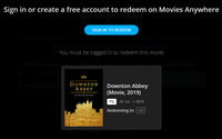 Downton Abbey (2019) HD Digital Code (Redeems in Movies Anywhere; HDX Vudu & HD iTunes & HD Google Play Transfer From Movies Anywhere)