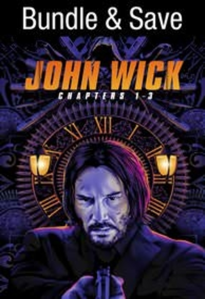 John Wick Chapters 1-3 3-Movie Collection UHD Vudu Digital Code (3 Movies, 1 Code)