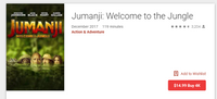 Jumanji 3-Movie Collection 4K Digital Codes (Redeems in Movies Anywhere; UHD Vudu & 4K iTunes & 4K Google Play Transfer From Movies Anywhere) (3 Movies, 3 Codes)