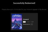 Onward 4K Digital Code (Redeems in Movies Anywhere; UHD Vudu & 4K Google Play & HD iTunes Transfer From Movies Anywhere) (NO 4K ITUNES) (Full Code, No Disney Insiders Points)