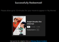 Ralph Breaks The Internet: Wreck-It Ralph 2 4K Digital Code (Redeems in Movies Anywhere; UHD Vudu & HD Google Play & HD iTunes Transfer From MA) (NO 4K ITUNES or GP) (Full Code, No Disney Insiders Points)