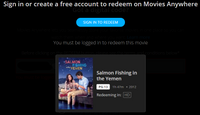 Salmon Fishing in the Yemen HD Digital Code (Redeems in Movies Anywhere; HDX Vudu & HD iTunes & HD Google Play Transfer From Movies Anywhere)