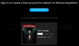 The Turning (2020) HD Digital Code (Redeems in Movies Anywhere; HDX Vudu & HD iTunes & HD Google Play Transfer From Movies Anywhere)