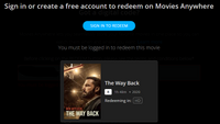 The Way Back HD Digital Code (Redeems in Movies Anywhere; HDX Vudu & HD iTunes & HD Google Play Transfer From Movies Anywhere)