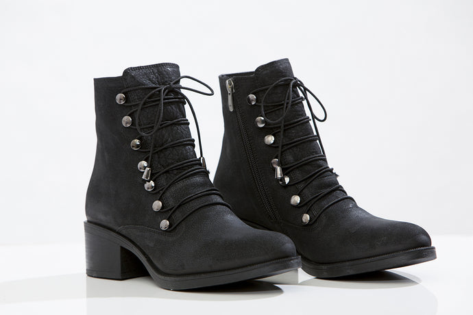 PROGETTO lace-up booties