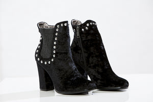 REPLAY Velvet ankle booties