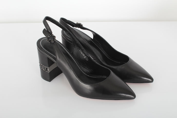 CANAPE leather sling back pumps
