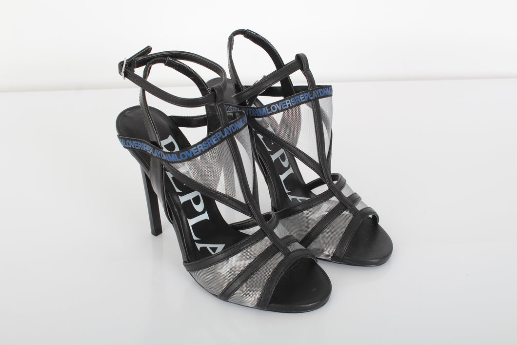 REPLAY Black minimalist sandals