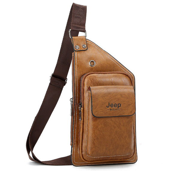 5485ebdd7a1 Hengsheng new brand Jeep men chest bag with quality pu leather men waist  pack for fashioin travelling men crossbody bags