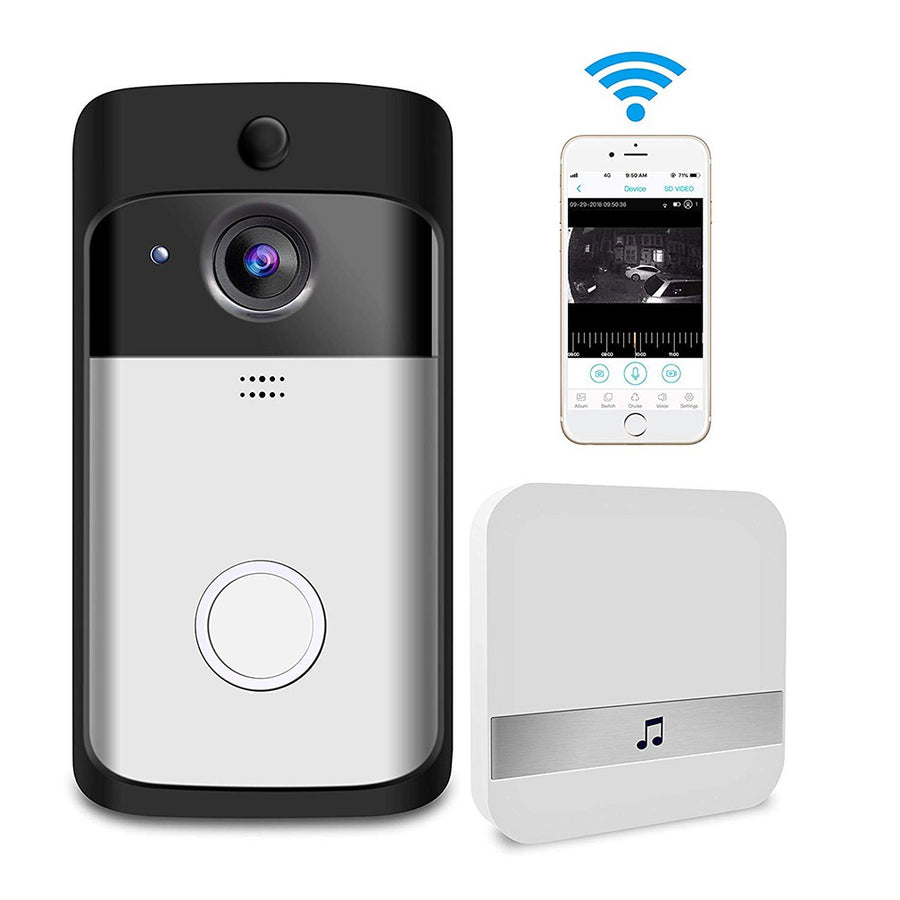Video Doorbell,WiFi Smart Wireless Doorbell 720P HD Security Camera  Real-Time Video and Two-Way Talk, Night Vision, PIR Motion Detection App  Control