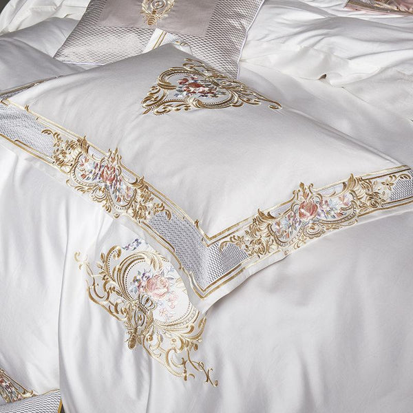Windsor White Embroidery Duvet Cover Set (7 Pieces)