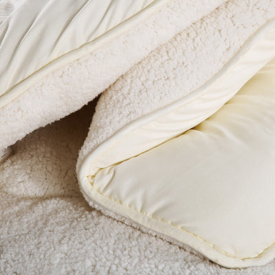 ORIGIN WHITE WARM WINTER WOOL QUILT COMFORTER